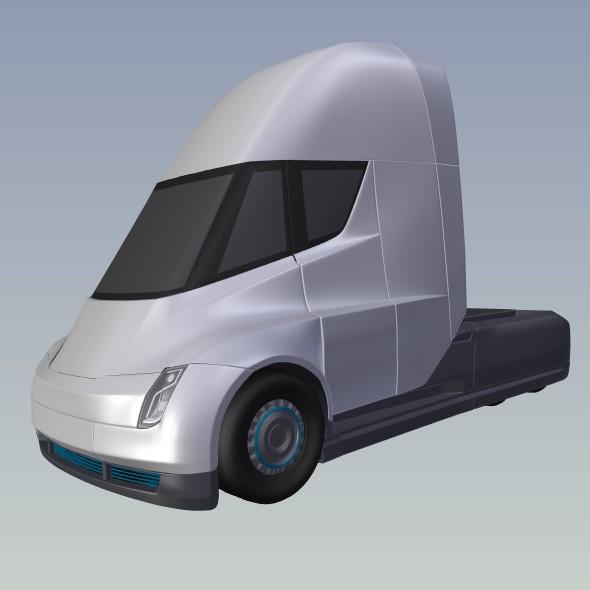 tesla electric semi truck 3d model 3ds fbx blend dae lwo obj 272048