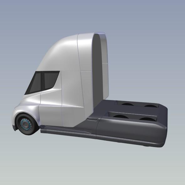 tesla electric semi truck 3d model 3ds fbx blend dae lwo obj 272049