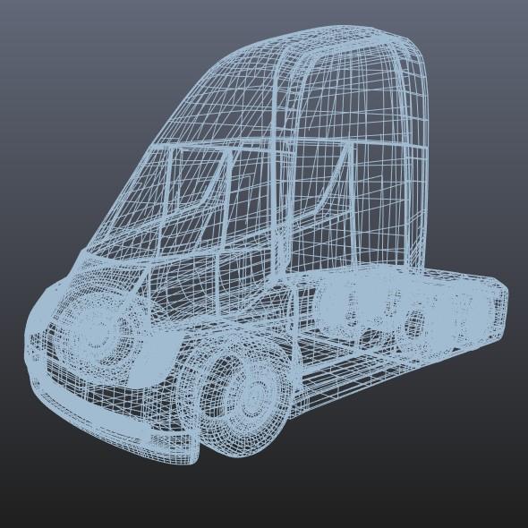 tesla electric semi truck 3d model 3ds fbx blend dae lwo obj 272050