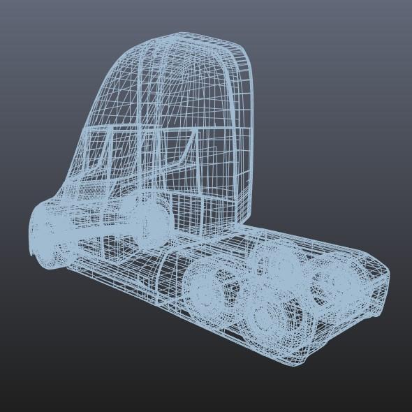 tesla electric semi truck 3d model 3ds fbx blend dae lwo obj 272051