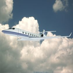 Gulfstream G650 N650 GA lowpoly corporate jet 3d model 0