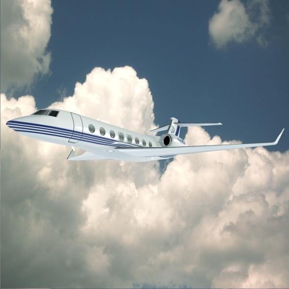 Gulfstream G650 N650 GA lowpoly corporate jet 3d model fbx blend dae obj 272081