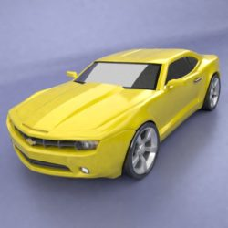 Chevrolet Camaro 2011 redesign 3d model 3ds fbx blend dae lwo lws lw obj