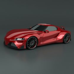 Toyota ft1 concept car restyled 3d model 0