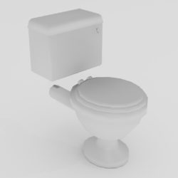 Porcelain Toilet 3d model 0