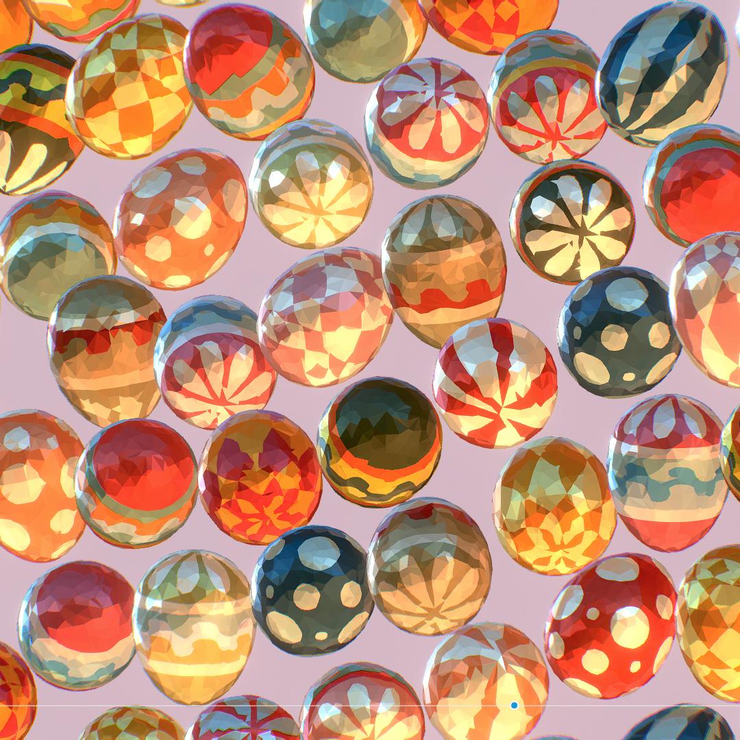 poli rendah seni animasi easter hiasan telur Model 3d max fbx jpeg jpg ma mb obj 272188