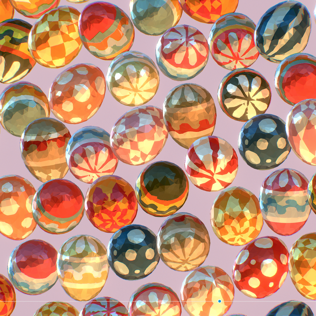 low poly art animated easter ornamental eggs 3d model max  fbx jpeg jpg ma mb obj 272188