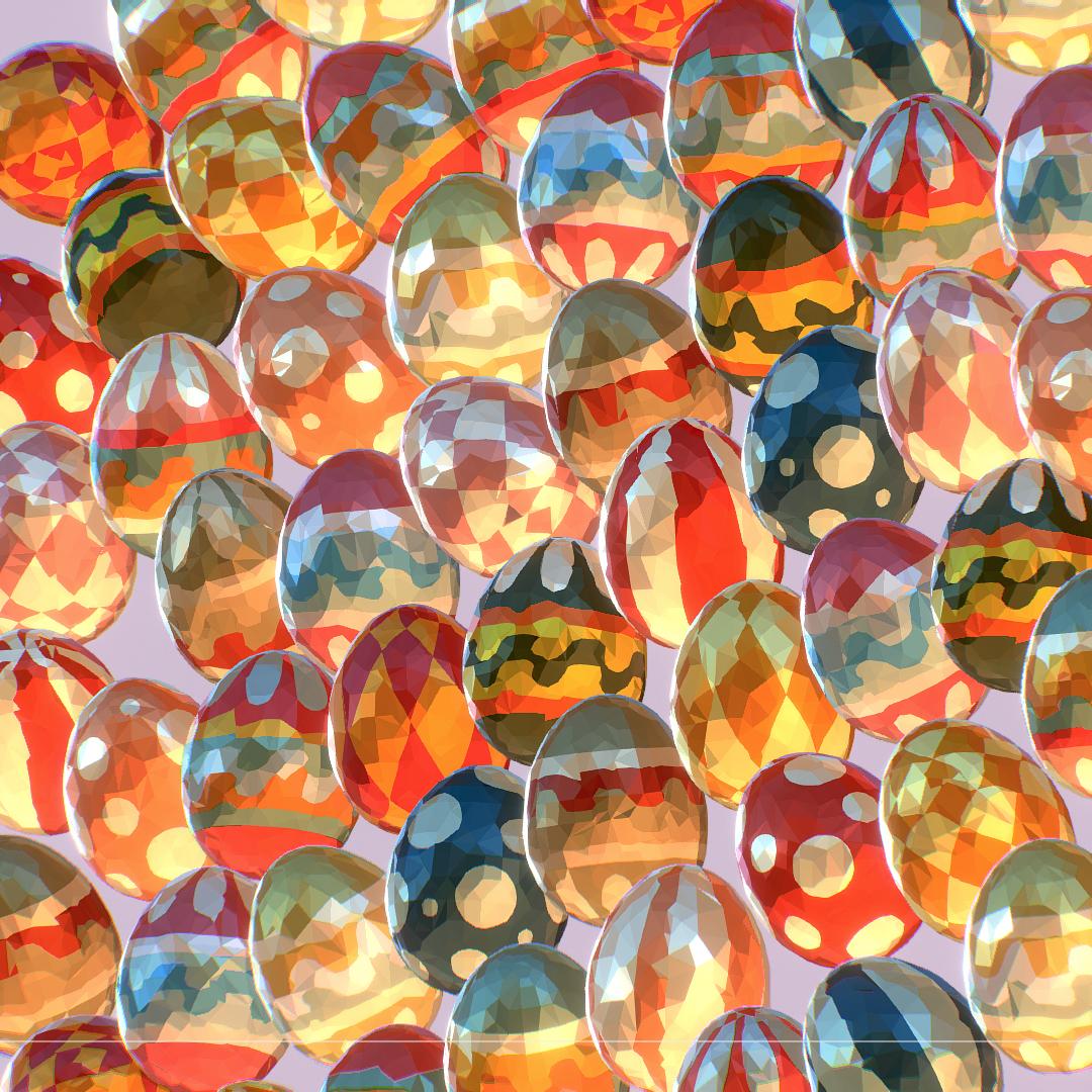 poli rendah seni animasi easter hiasan telur Model 3d max fbx jpeg jpg ma mb obj 272189