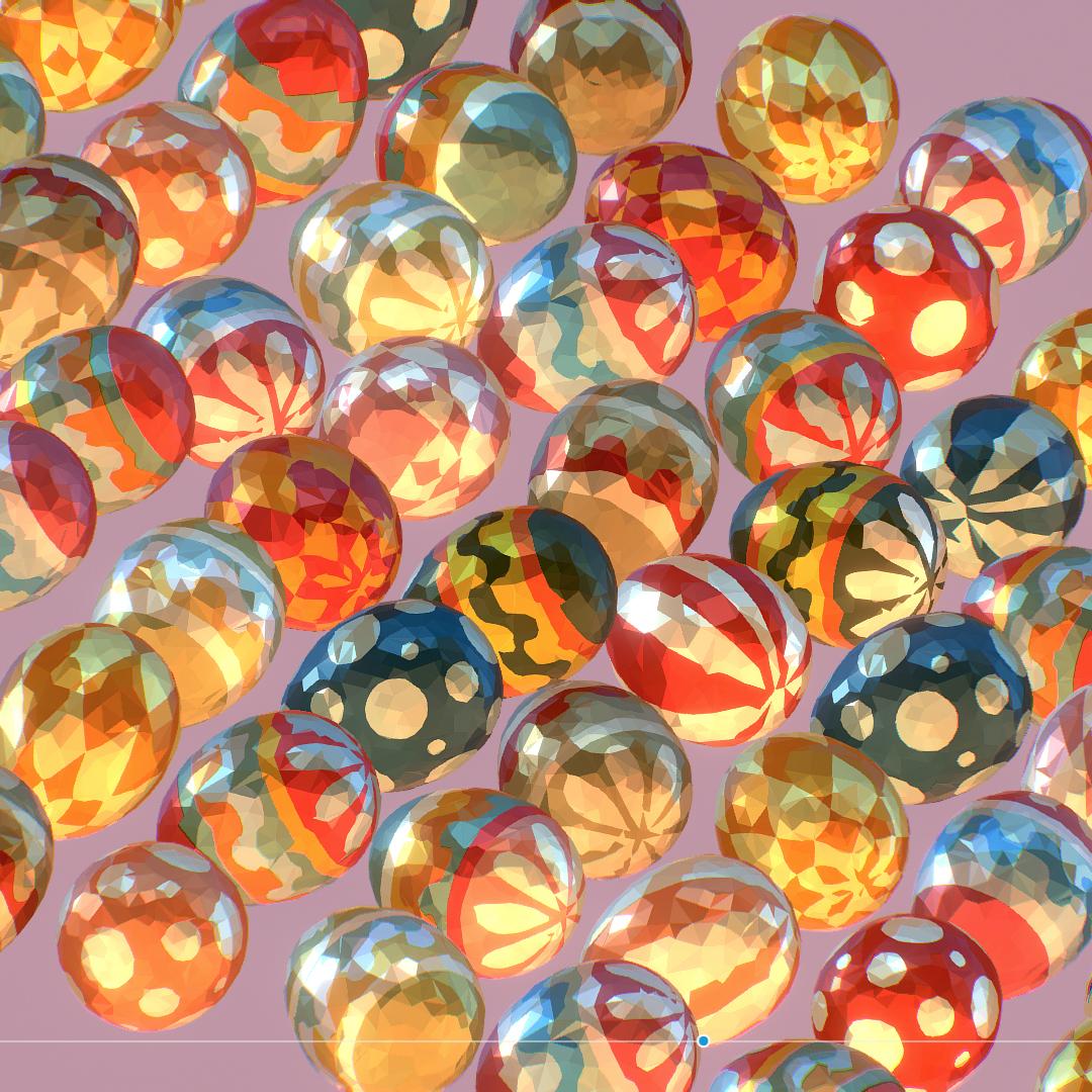 कम पाली कला एनिमेटेड ईस्टर सजावटी अंडे 3d मॉडल अधिकतम fbx JPEG jpg माँ एमबी obj 272190