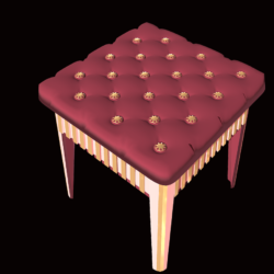 Stool - furniture for games 3d model games fbx