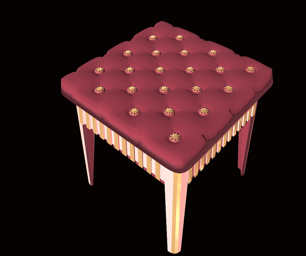 stool – furniture for games 3d model fbx 272334
