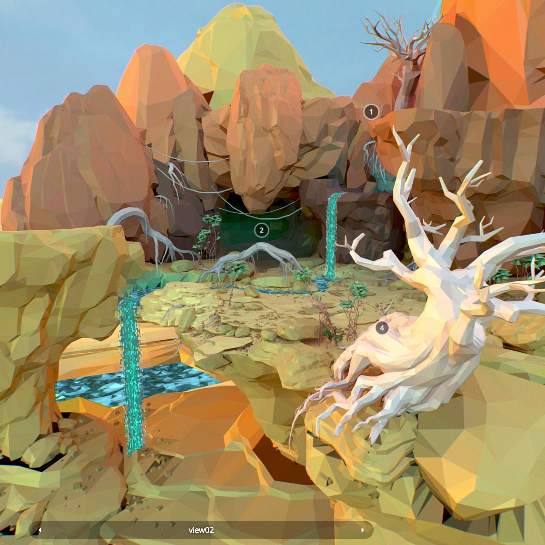 مضلع منخفض المستوى الفني الصحراء إفريقيا 3d model max fbx ma mb obj 272348