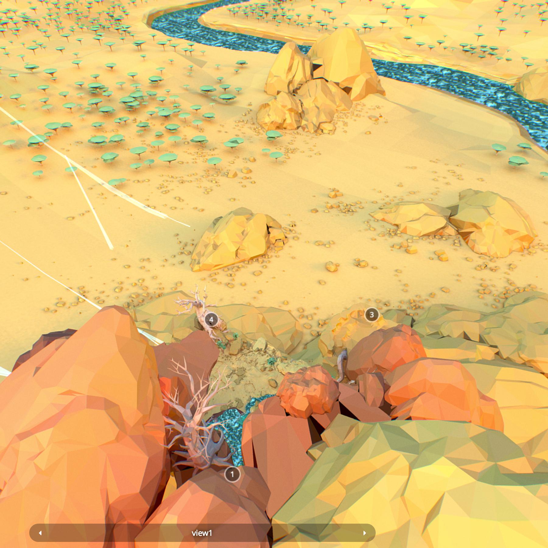 lefel isel o gelfyddyd polygon Affricanaidd y model 3d model max fbx and mb obj 272382