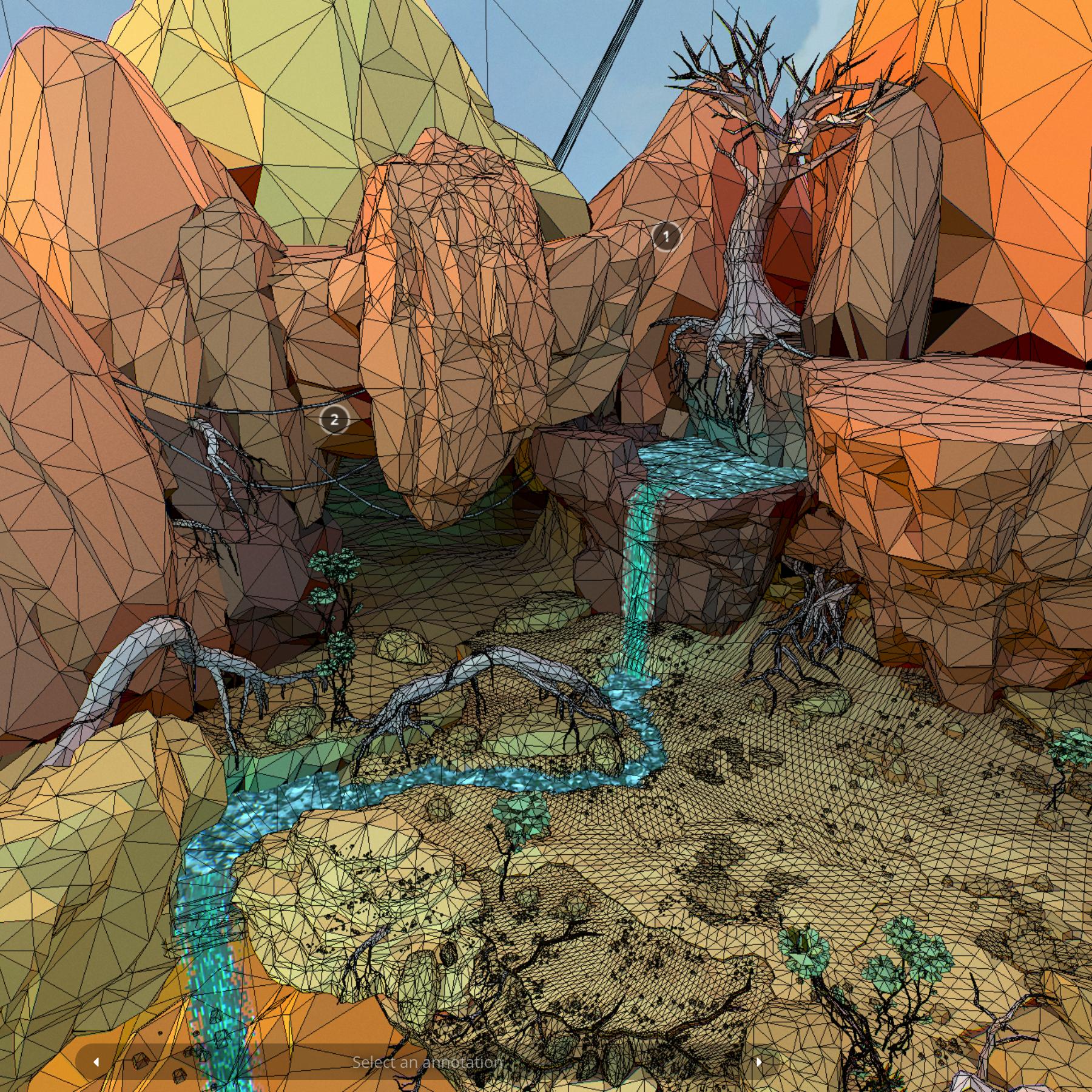 lefel isel o gelfyddyd polygon Affricanaidd y model 3d model max fbx and mb obj 272396
