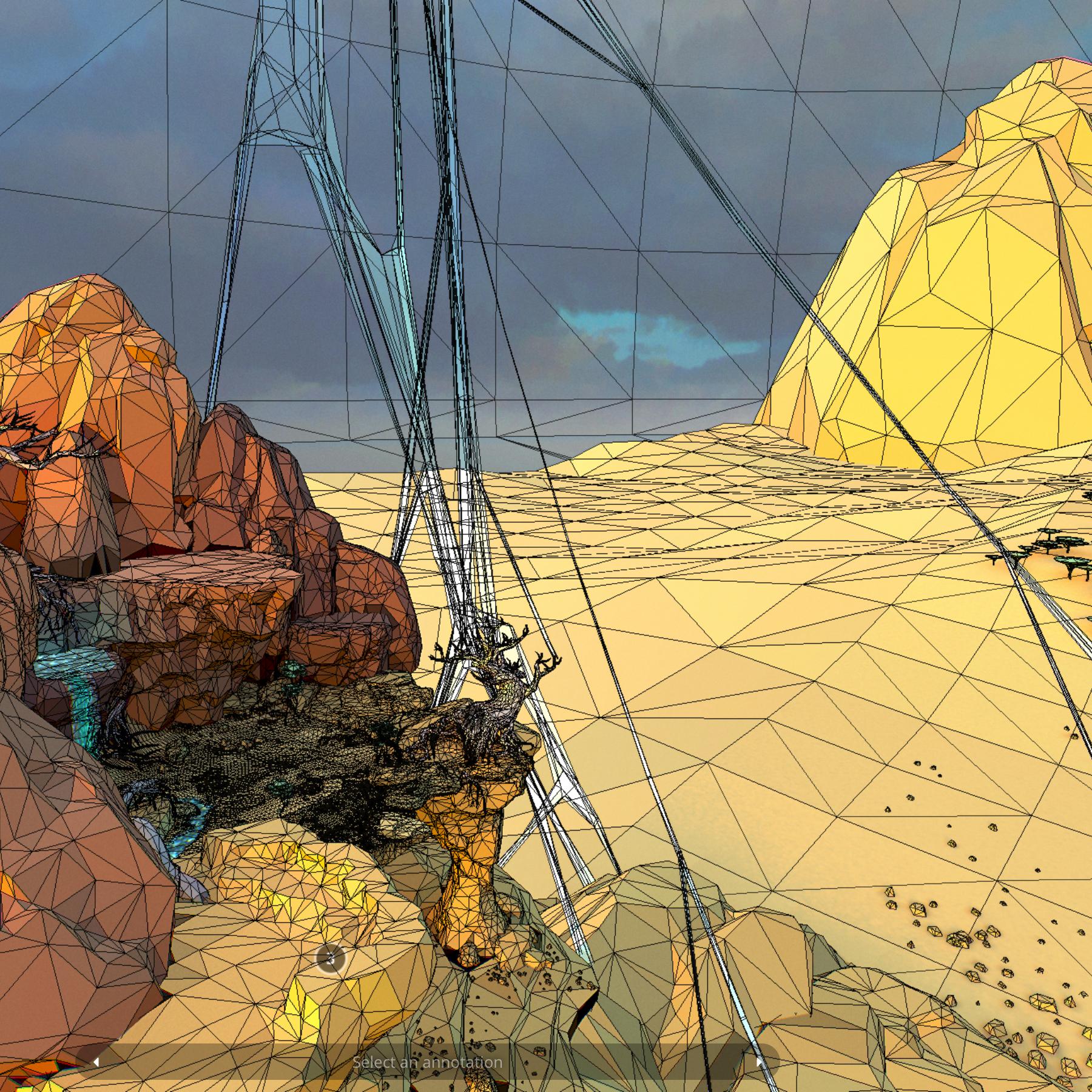 lefel isel o gelfyddyd polygon Affricanaidd y model 3d model max fbx and mb obj 272399