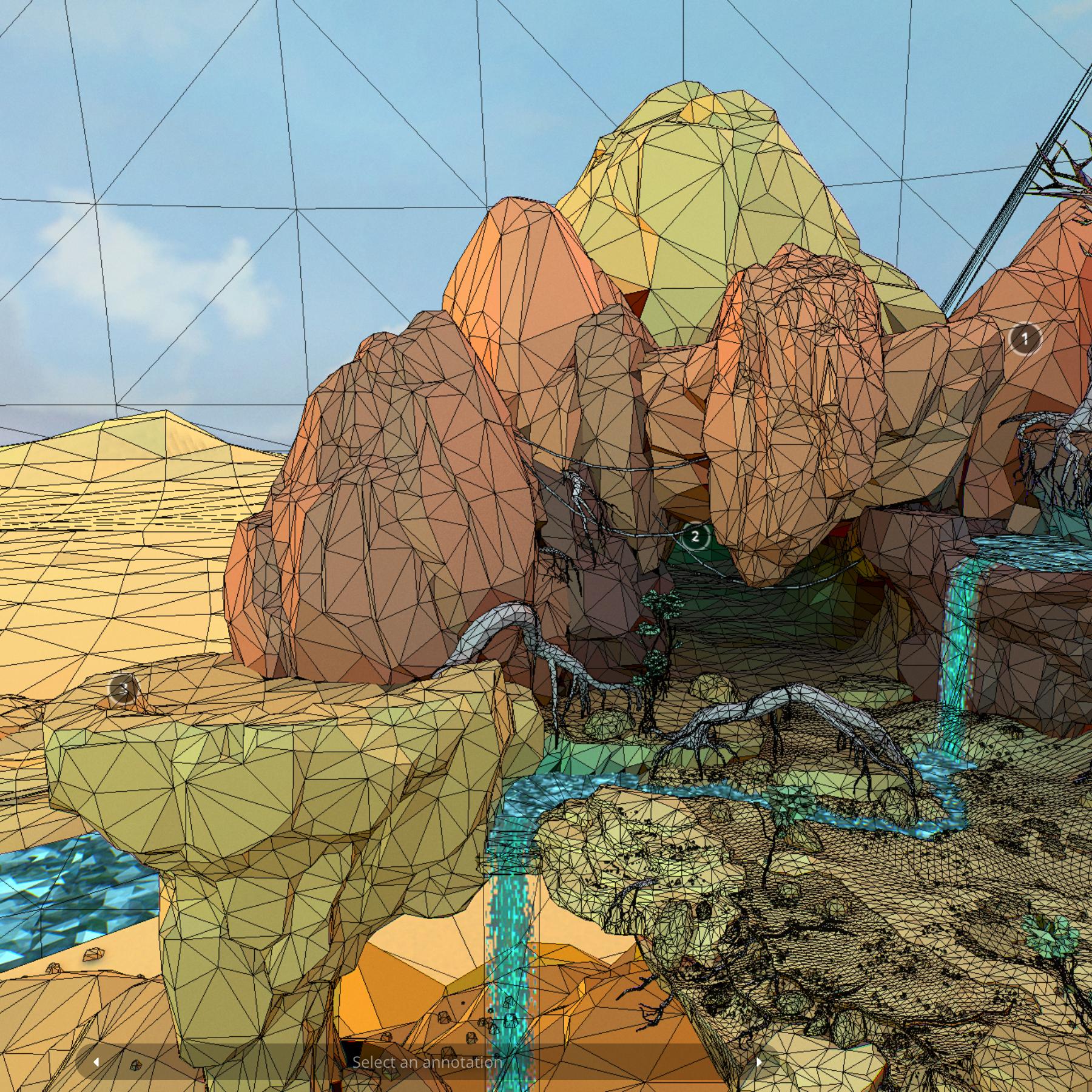 lefel isel o gelfyddyd polygon Affricanaidd y model 3d model max fbx and mb obj 272403