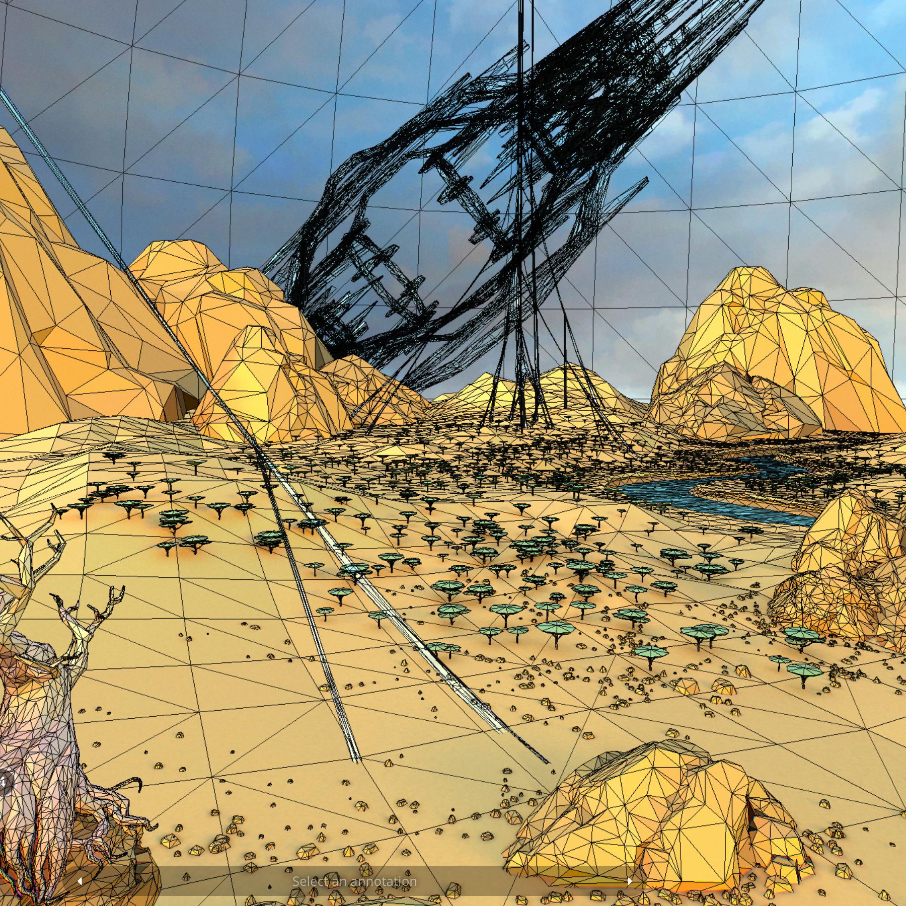 lefel isel o gelfyddyd polygon Affricanaidd y model 3d model max fbx and mb obj 272404