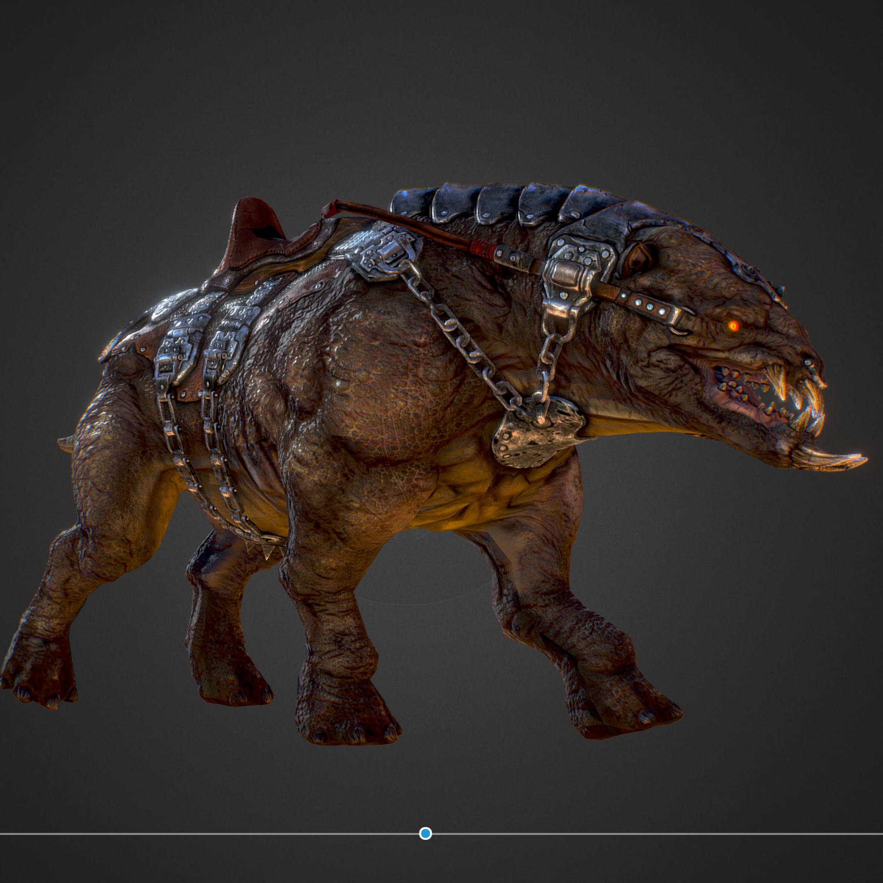 creature mount mastodont 3d model max  fbx ma mb obj 272409