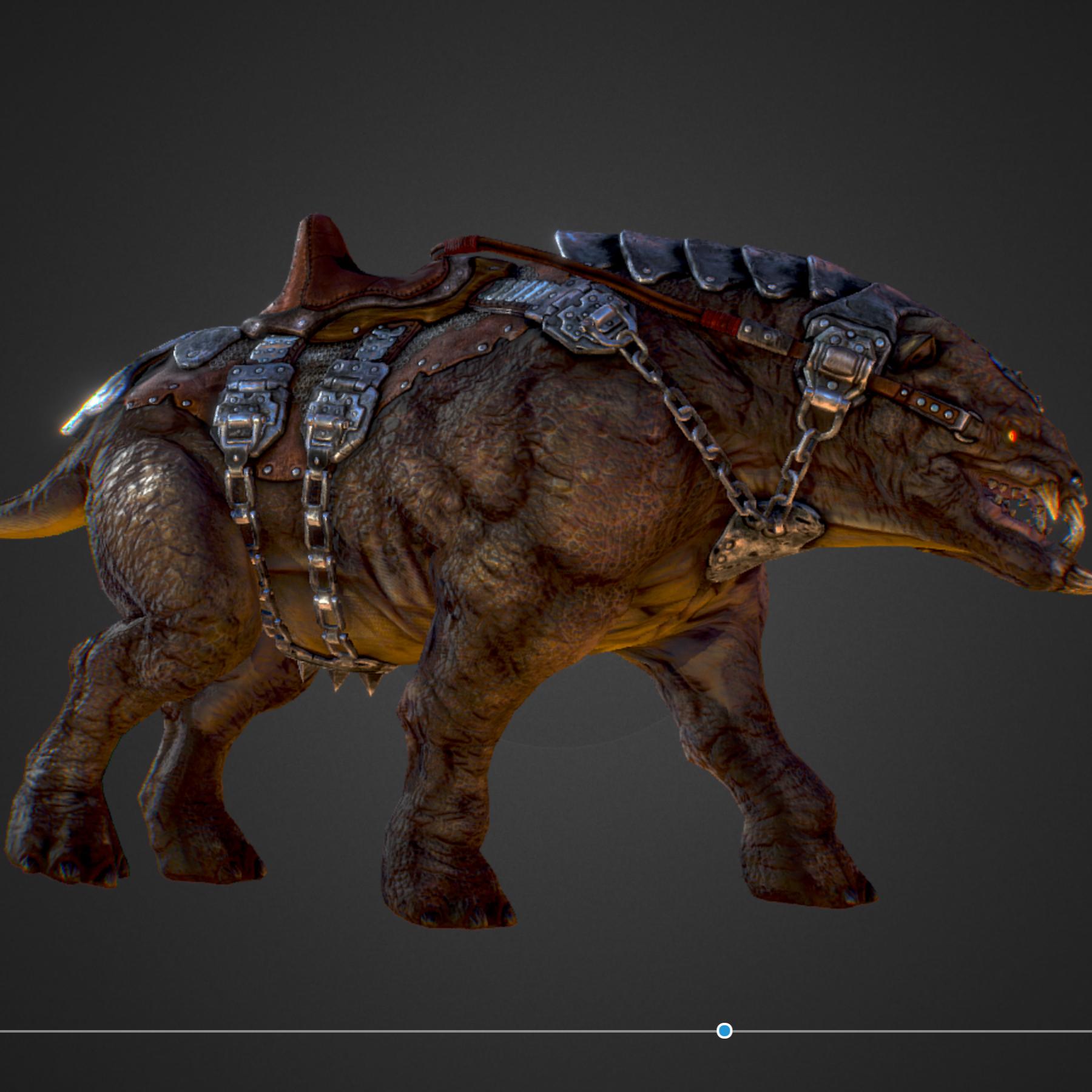creature mount mastodont 3d model max  fbx ma mb obj 272410