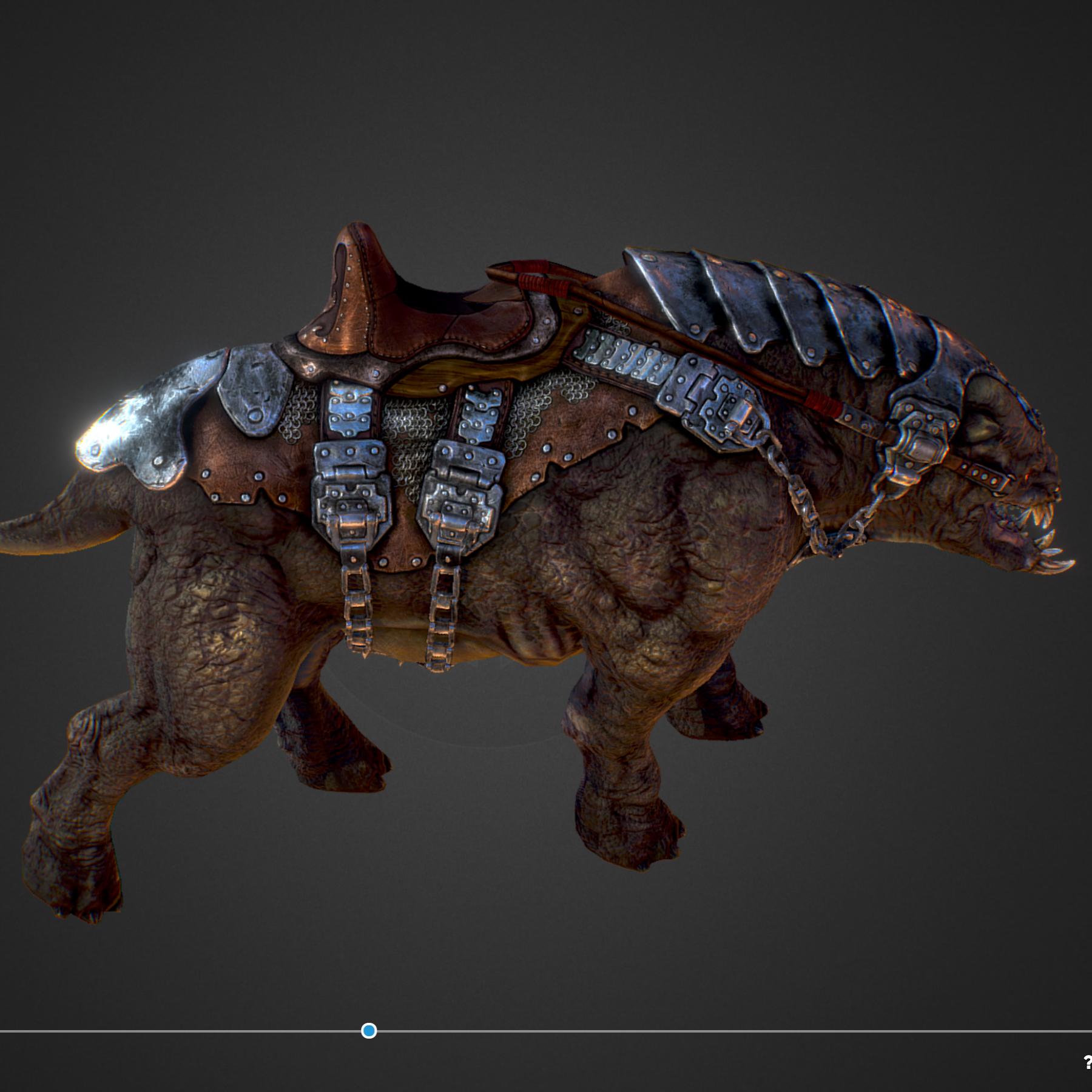 Creature mount Mastodont 3d model max 3ds max plugin fbx ma mb obj 272411