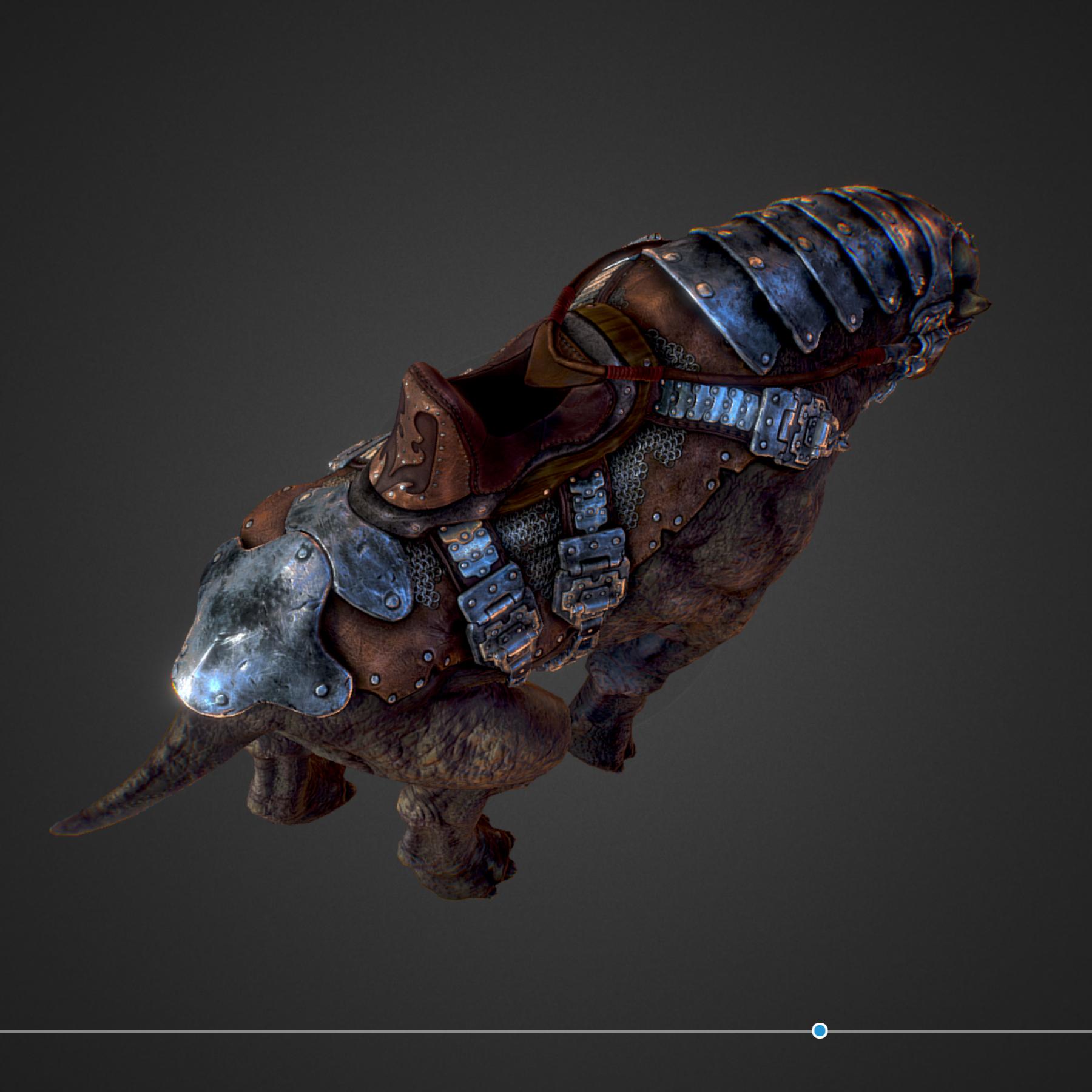 creature mount mastodont 3d model max  fbx ma mb obj 272412