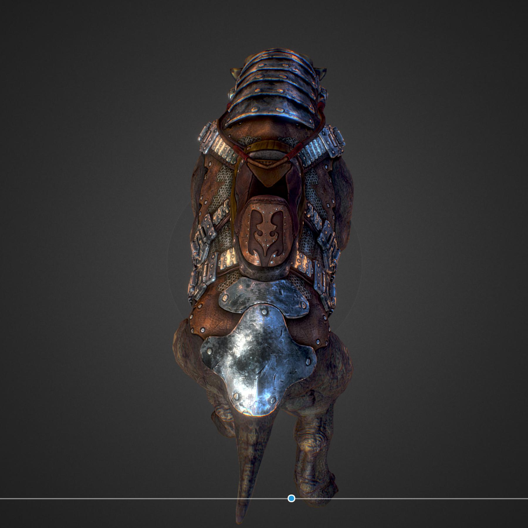 creature mount mastodont 3d model max  fbx ma mb obj 272413