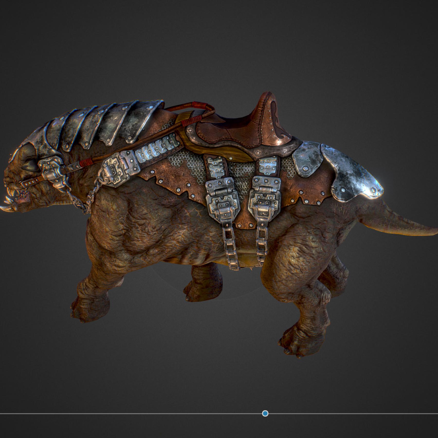 creature mount mastodont 3d model max  fbx ma mb obj 272414