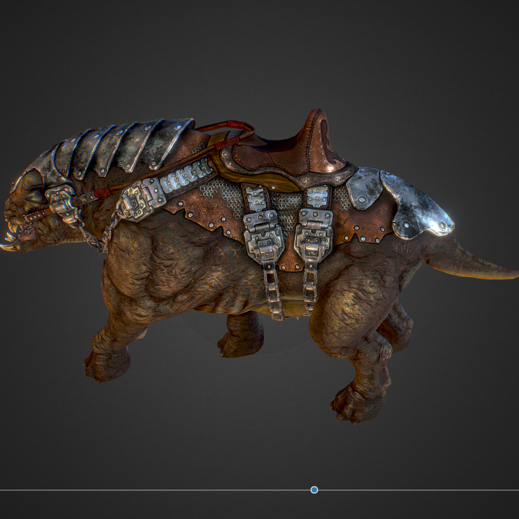 Creature mount Mastodont 3d model max 3ds max plugin fbx ma mb obj 272414