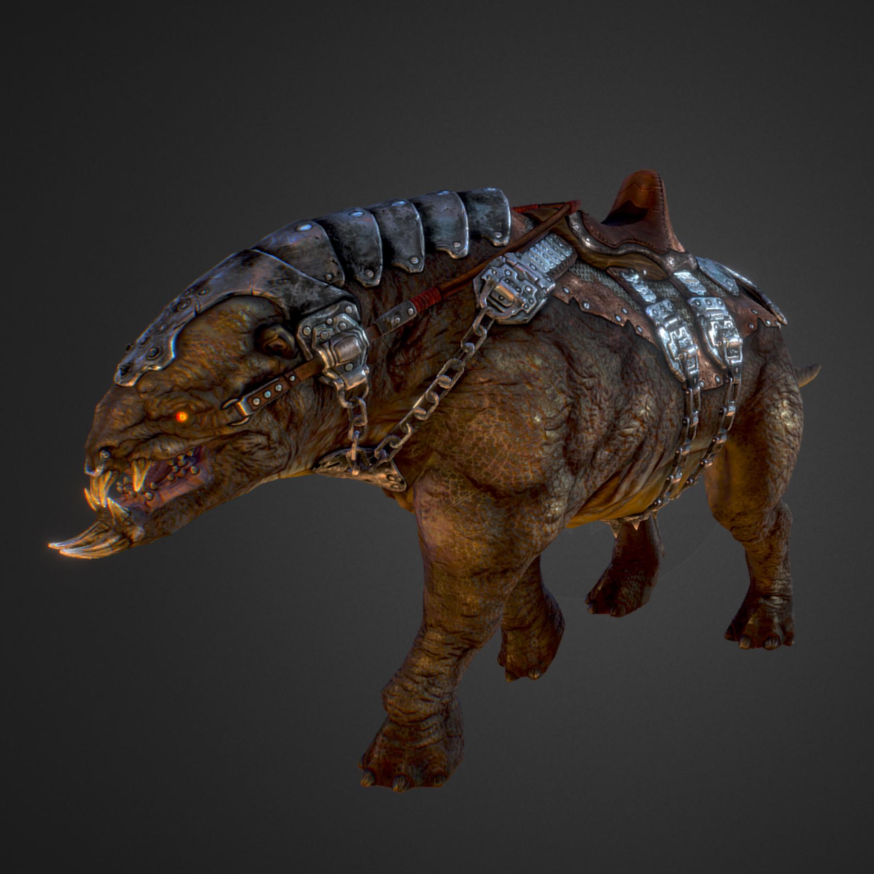 creature mount mastodont 3d model max  fbx ma mb obj 272415