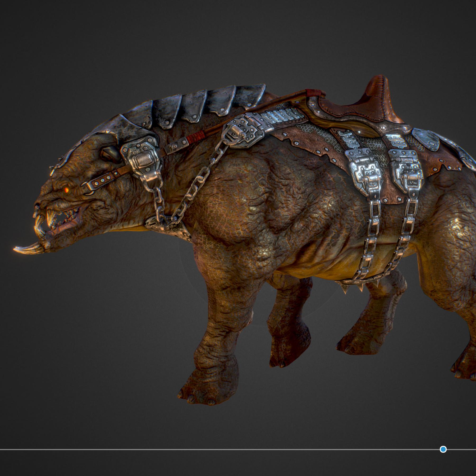 creature mount mastodont 3d model max  fbx ma mb obj 272416