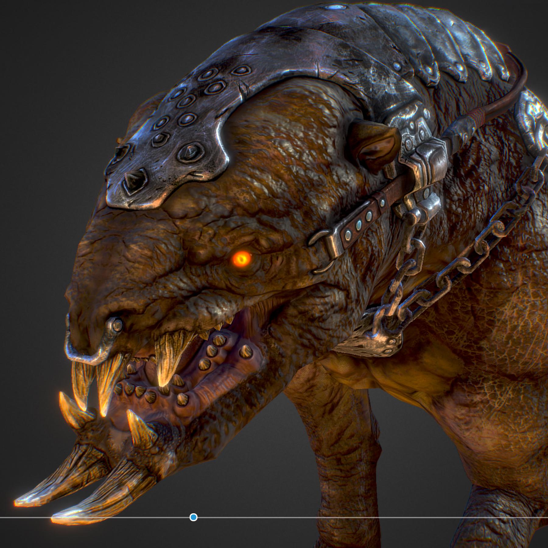 creature mount mastodont 3d model max  fbx ma mb obj 272418