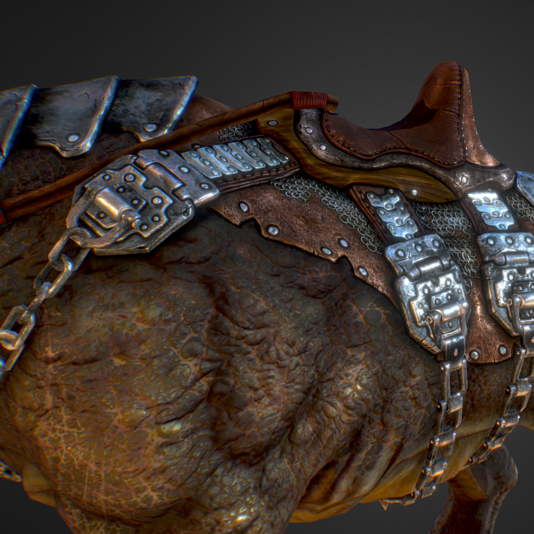 creature mount mastodont 3d model max  fbx ma mb obj 272419