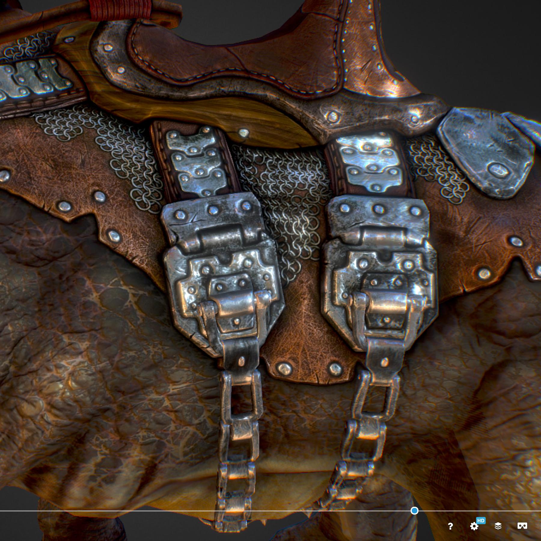 Creature mount Mastodont 3d model max 3ds max plugin fbx ma mb obj 272420