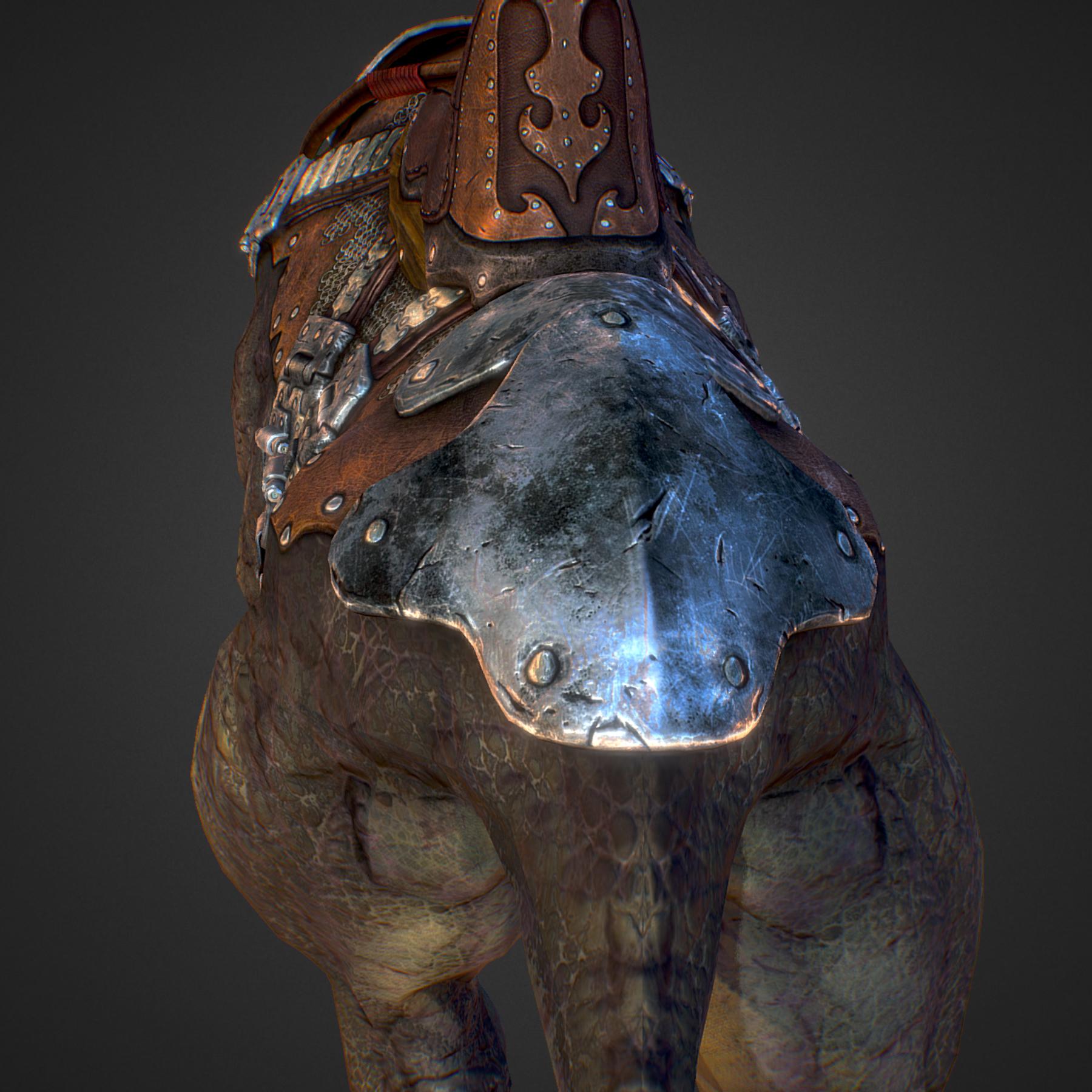 creature mount mastodont 3d model max  fbx ma mb obj 272421