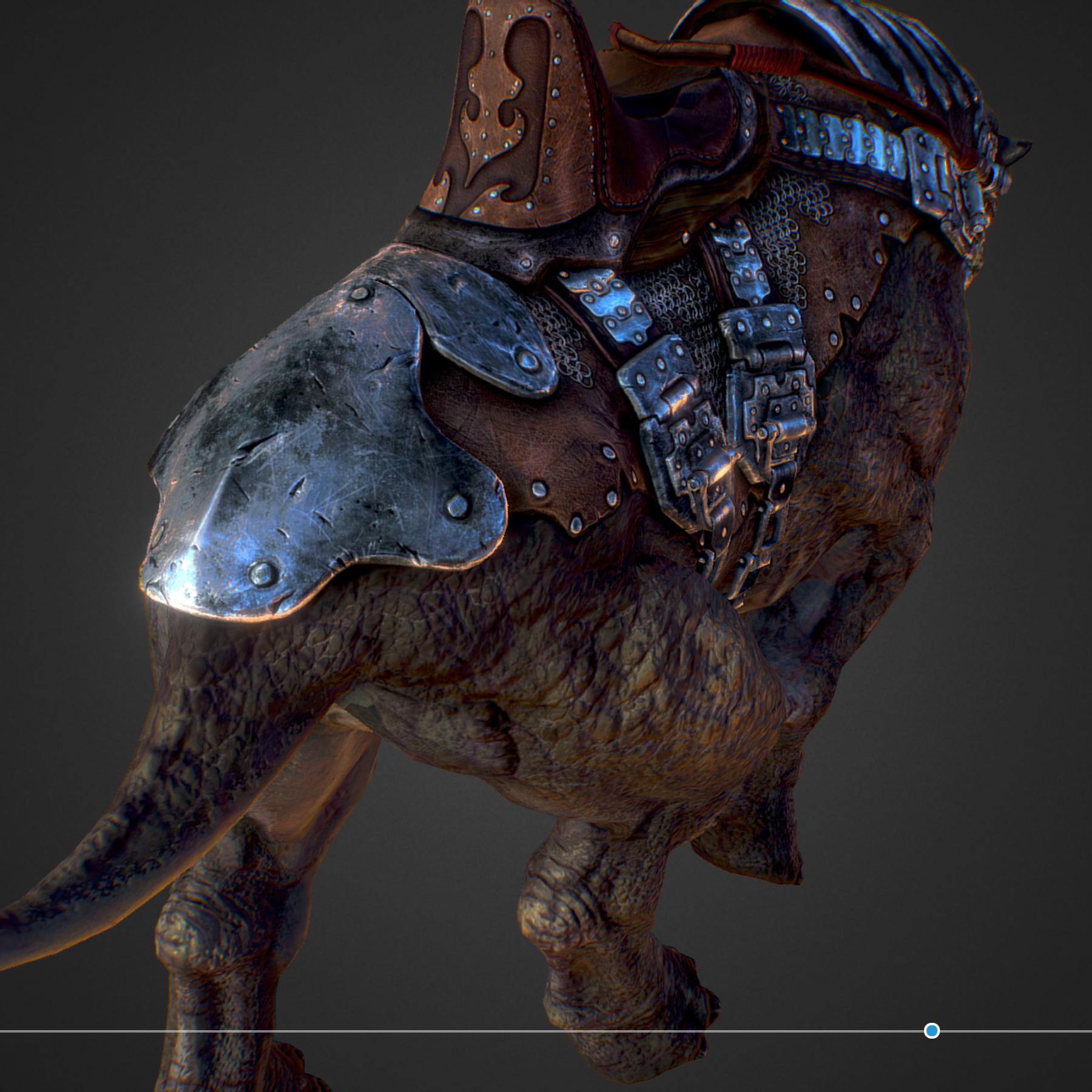 Creature mount Mastodont 3d model max 3ds max plugin fbx ma mb obj 272422