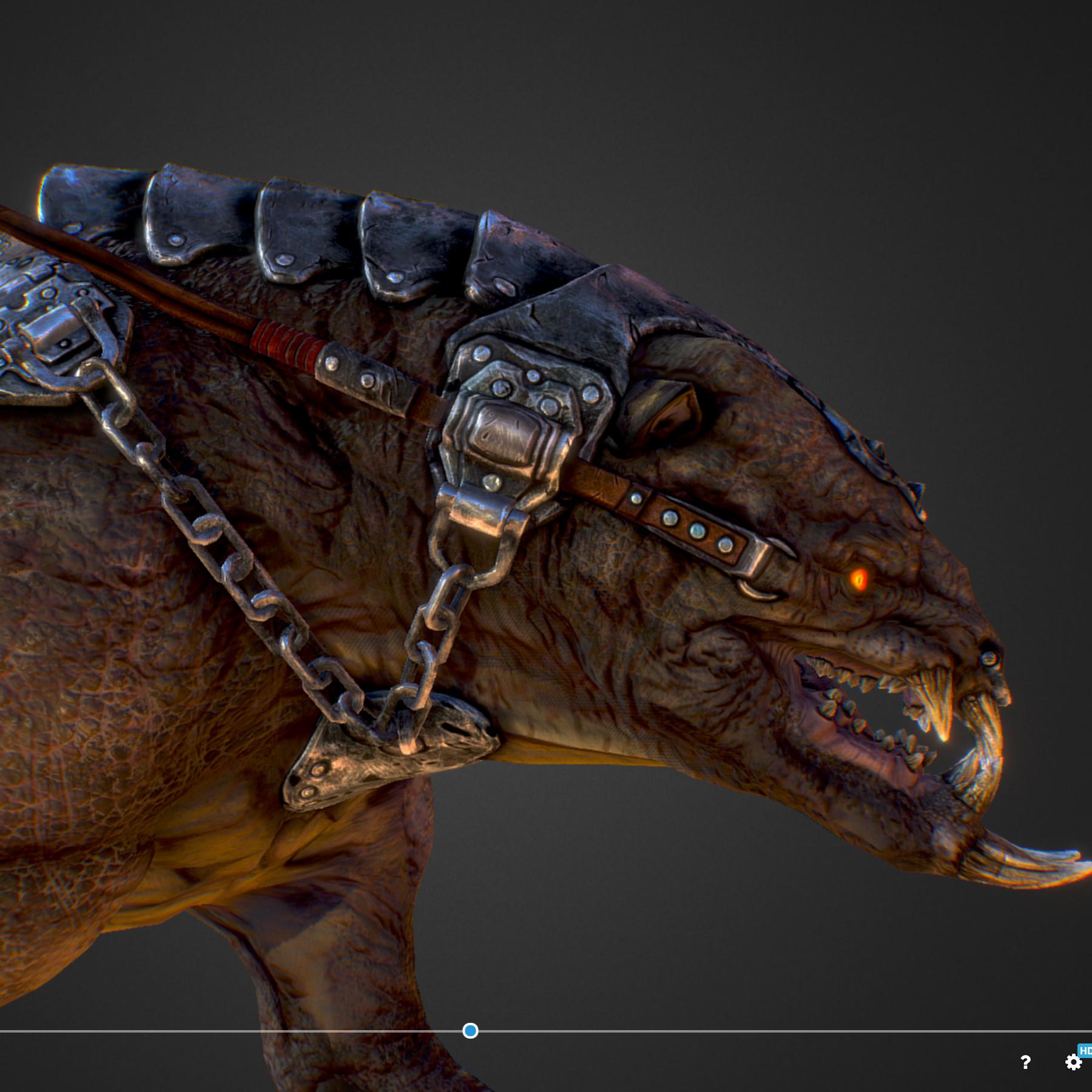 creature mount mastodont 3d model max  fbx ma mb obj 272425