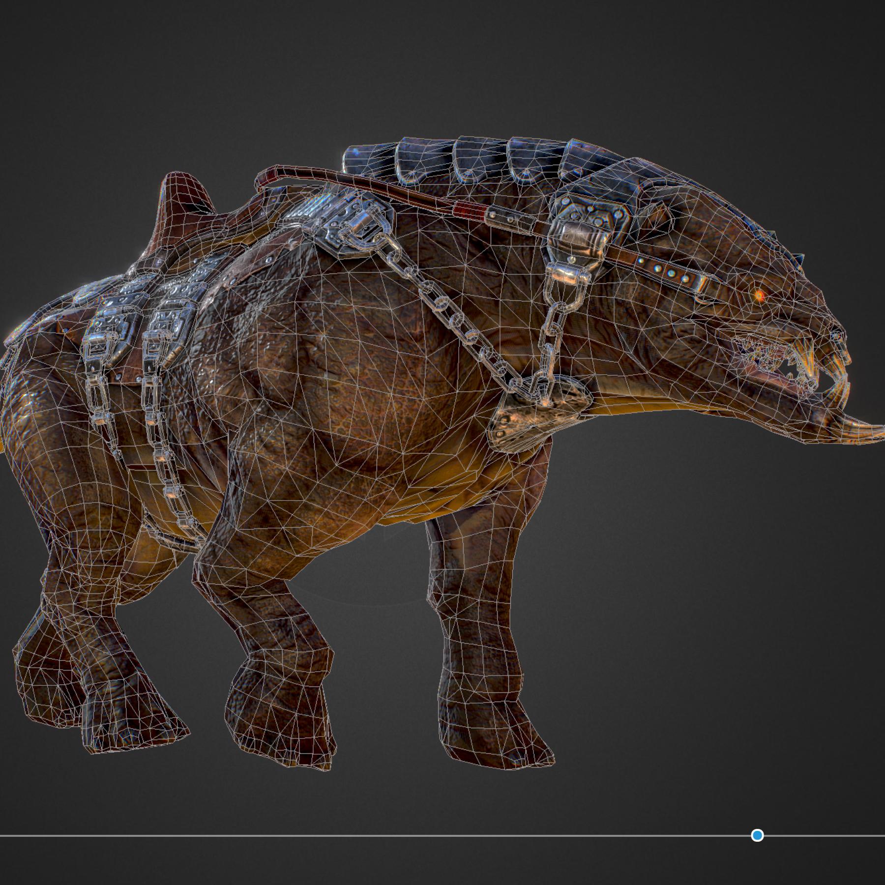 creature mount mastodont 3d model max  fbx ma mb obj 272426