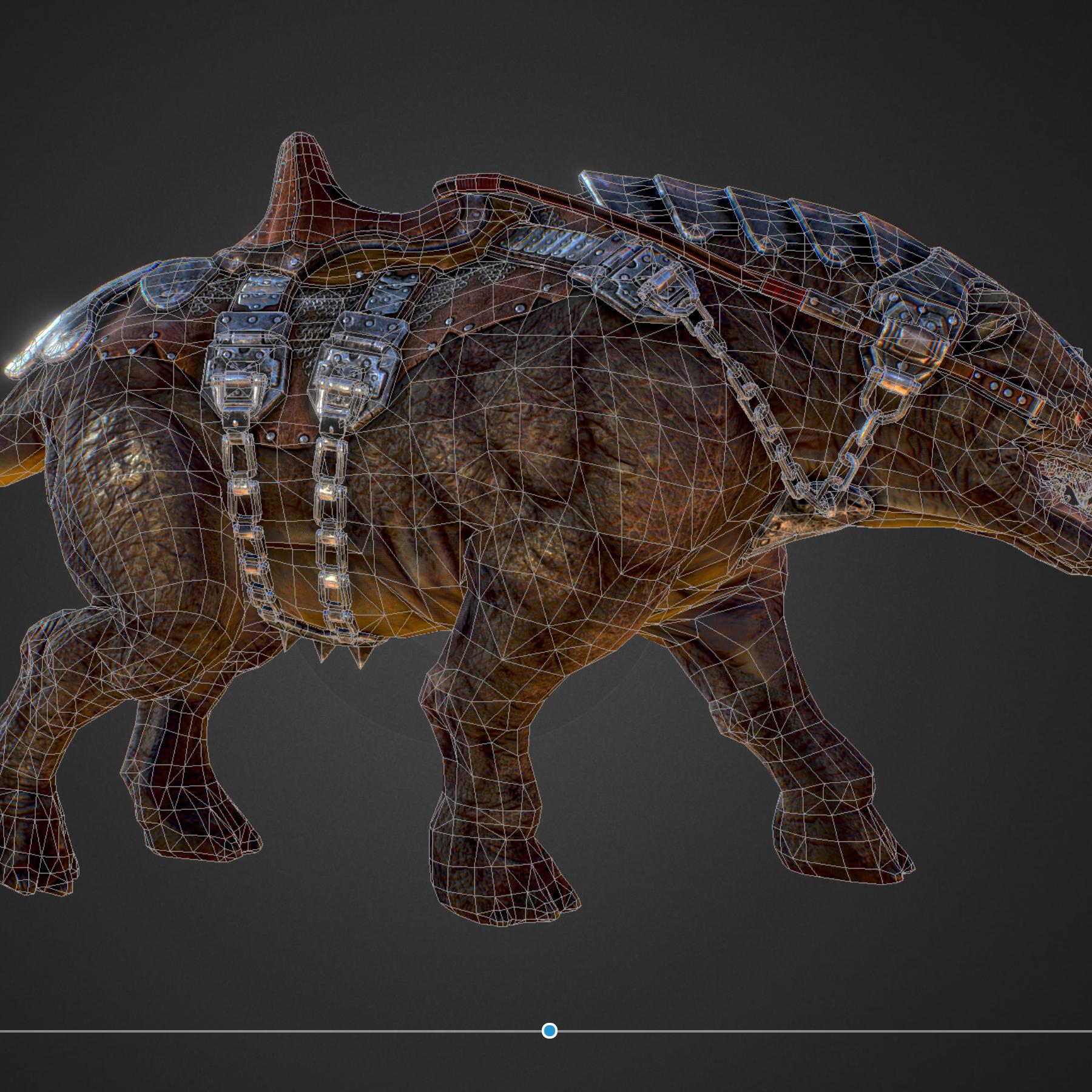creature mount mastodont 3d model max  fbx ma mb obj 272427