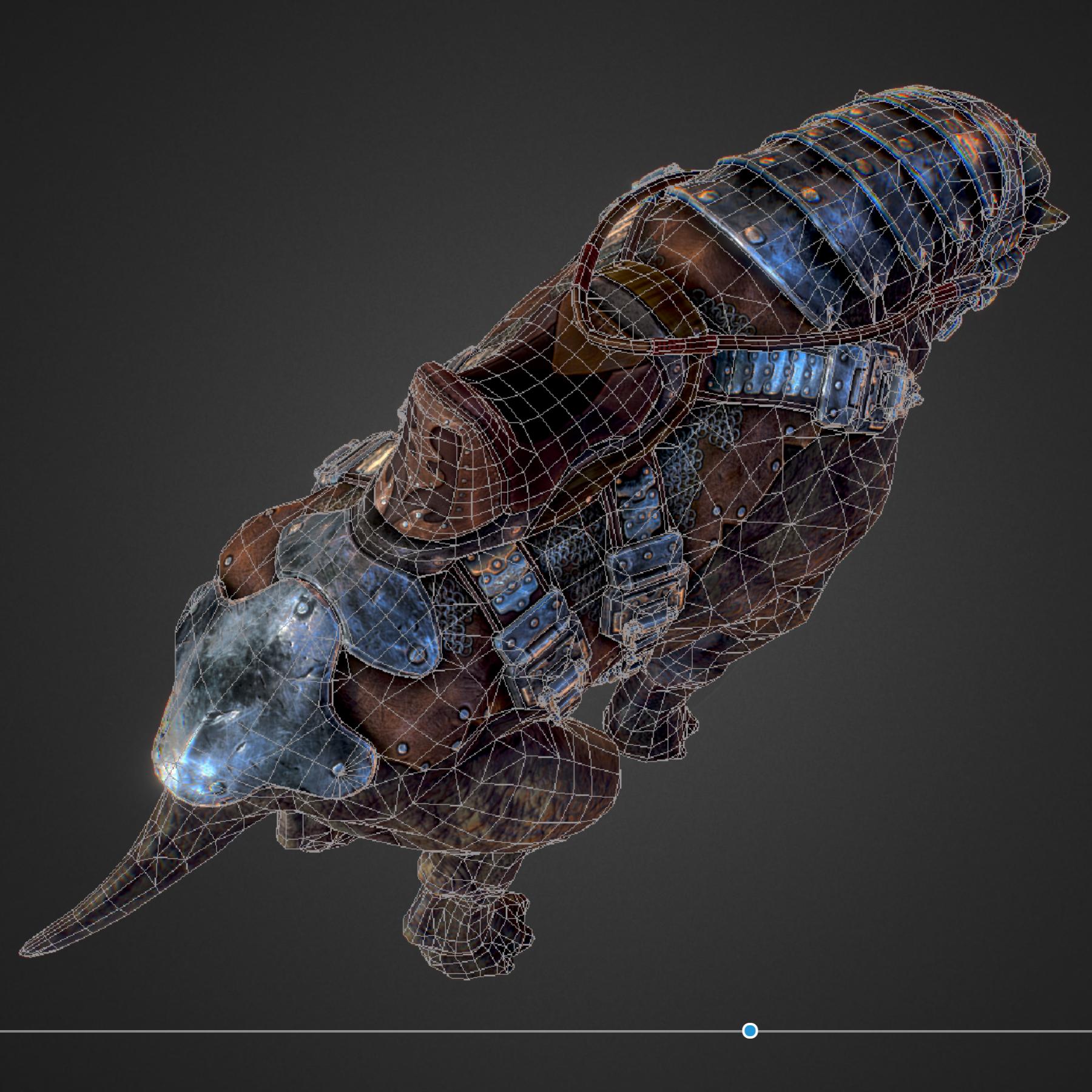 creature mount mastodont 3d model max  fbx ma mb obj 272428