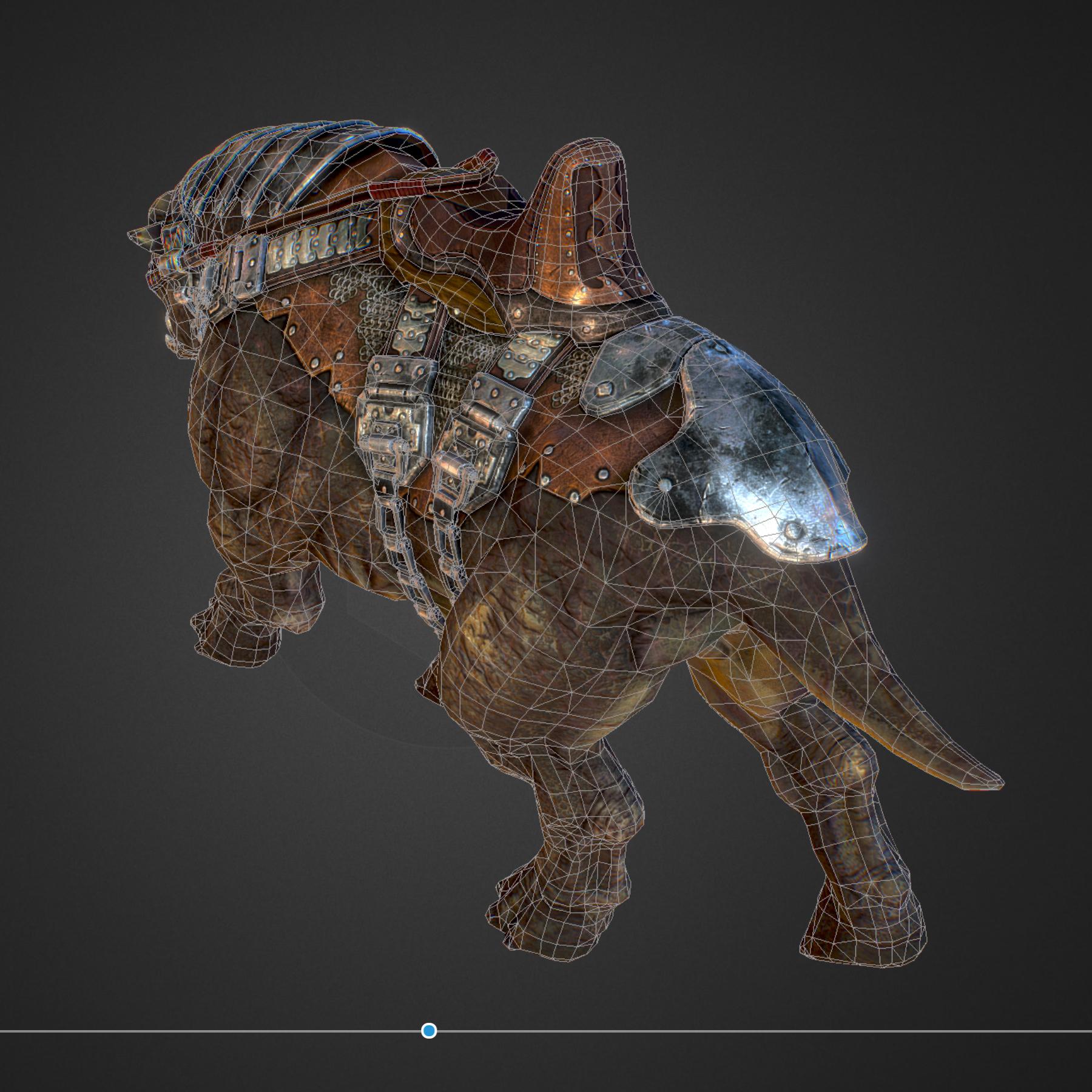 creature mount mastodont 3d model max  fbx ma mb obj 272429