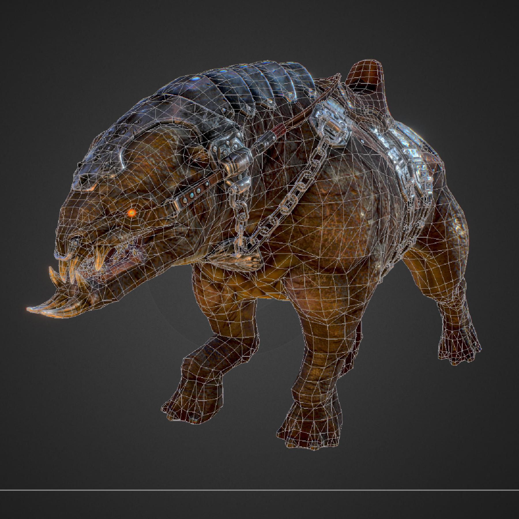 creature mount mastodont 3d model max  fbx ma mb obj 272431