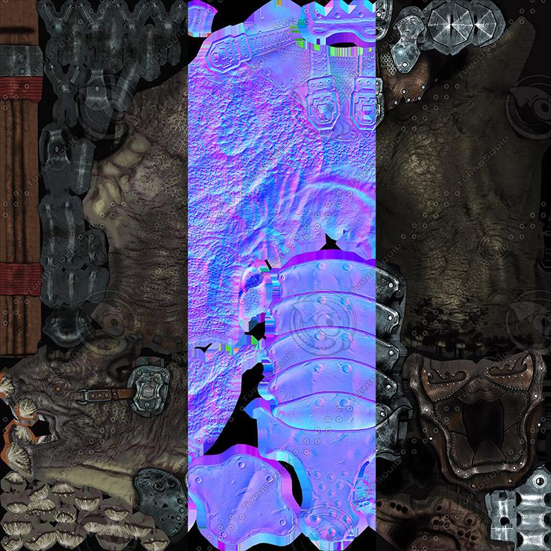 creature mount mastodont 3d model max  fbx ma mb obj 272432