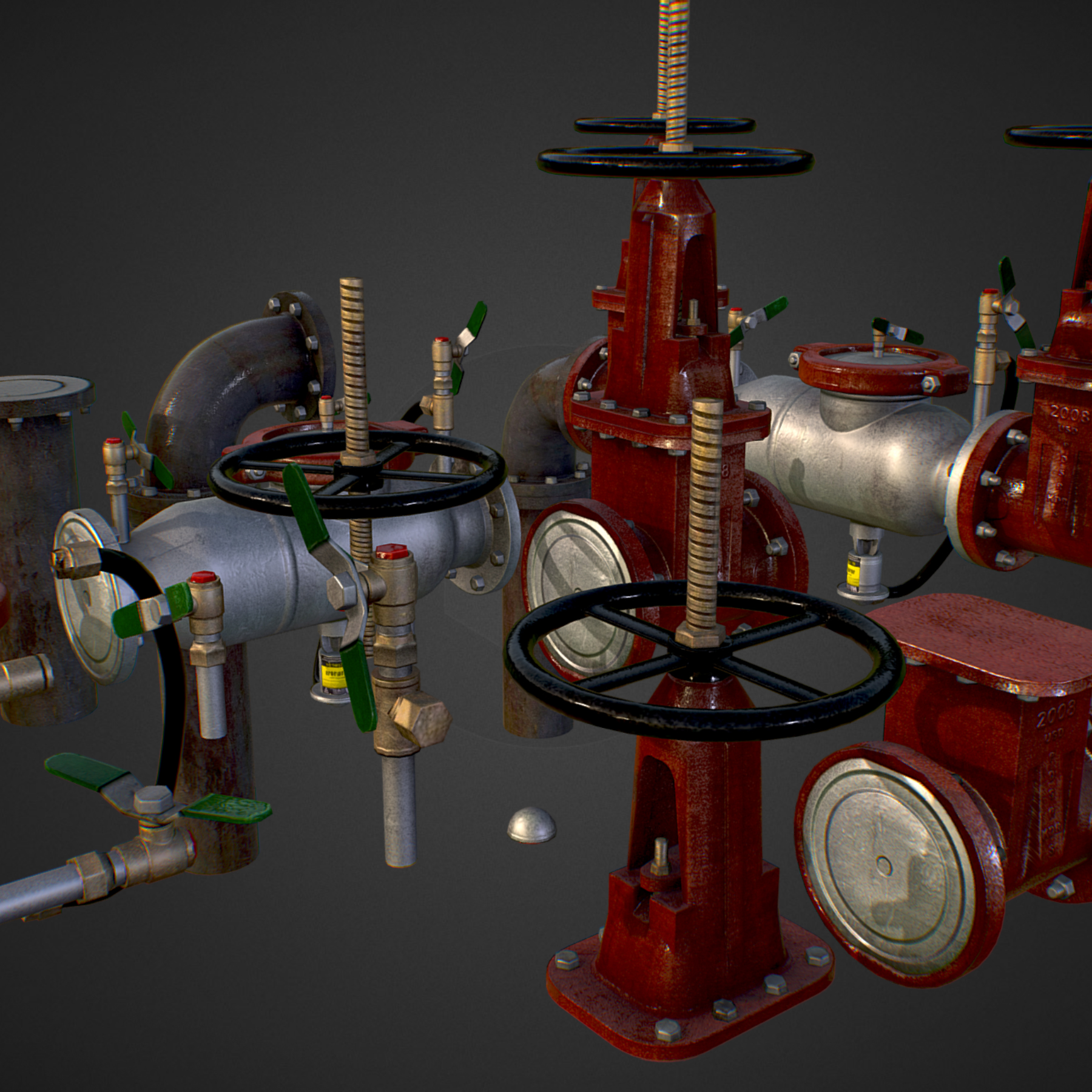 low poly game backflow water pipe constructor 3d model max  fbx ma mb tga targa icb vda vst pix obj 272468