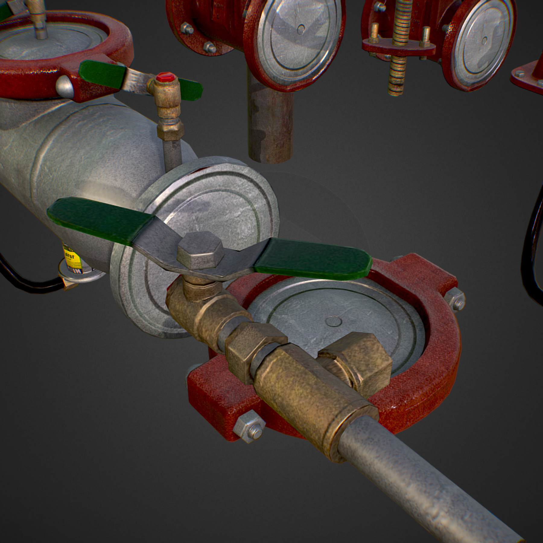 low poly game backflow water pipe constructor 3d model max  fbx ma mb tga targa icb vda vst pix obj 272472