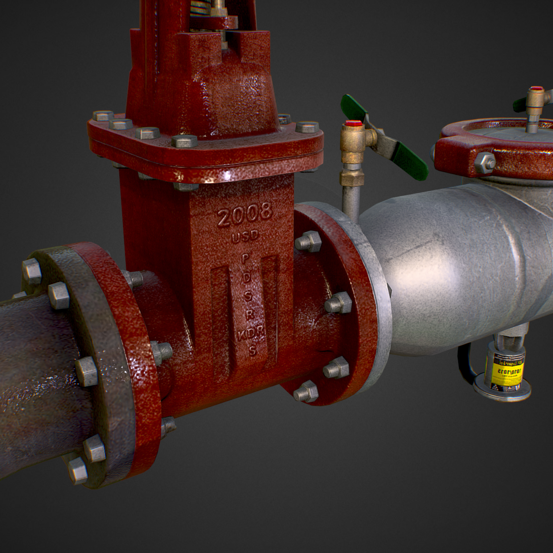 low poly game backflow water pipe constructor 3d model max  fbx ma mb tga targa icb vda vst pix obj 272476