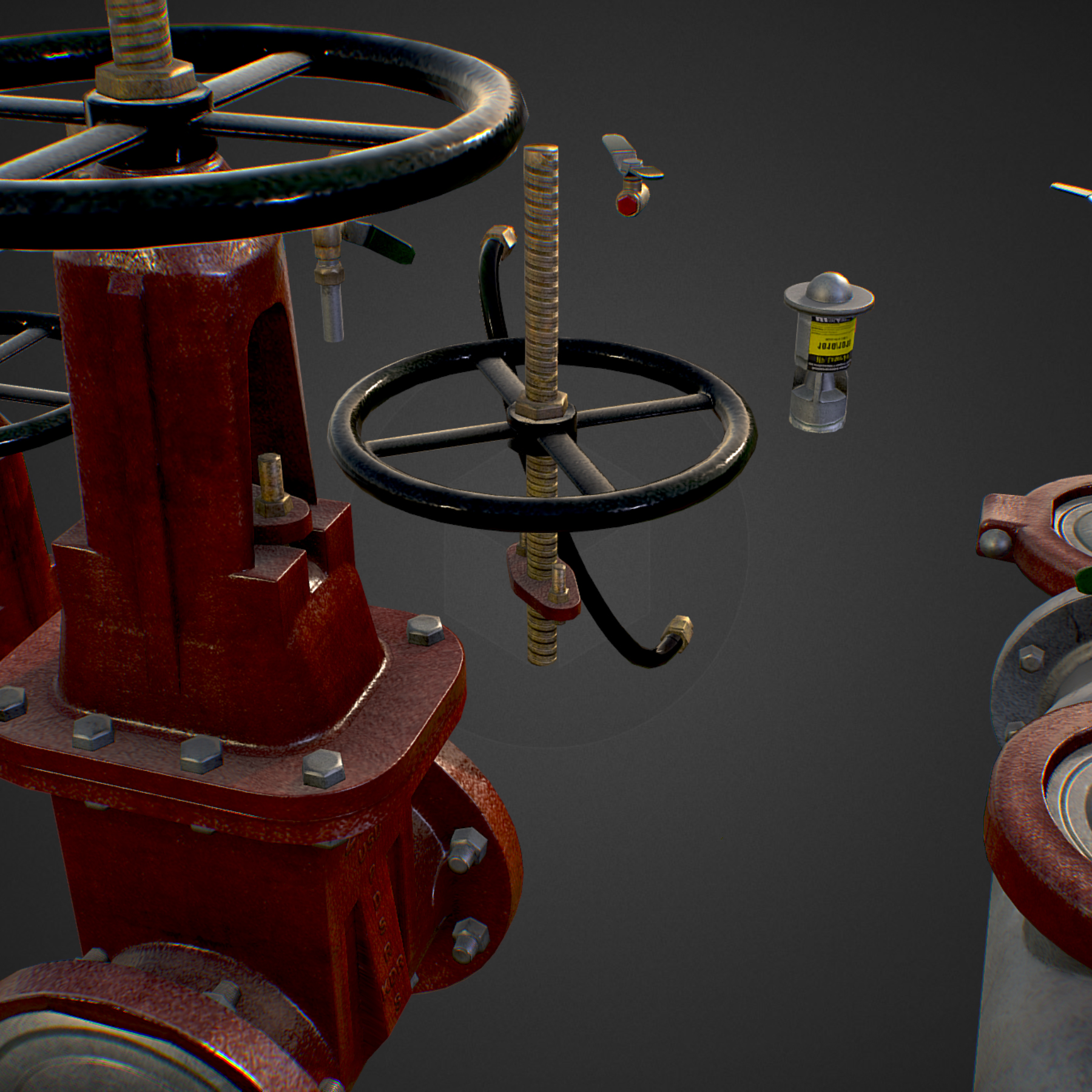 low poly game backflow water pipe constructor 3d model max  fbx ma mb tga targa icb vda vst pix obj 272478