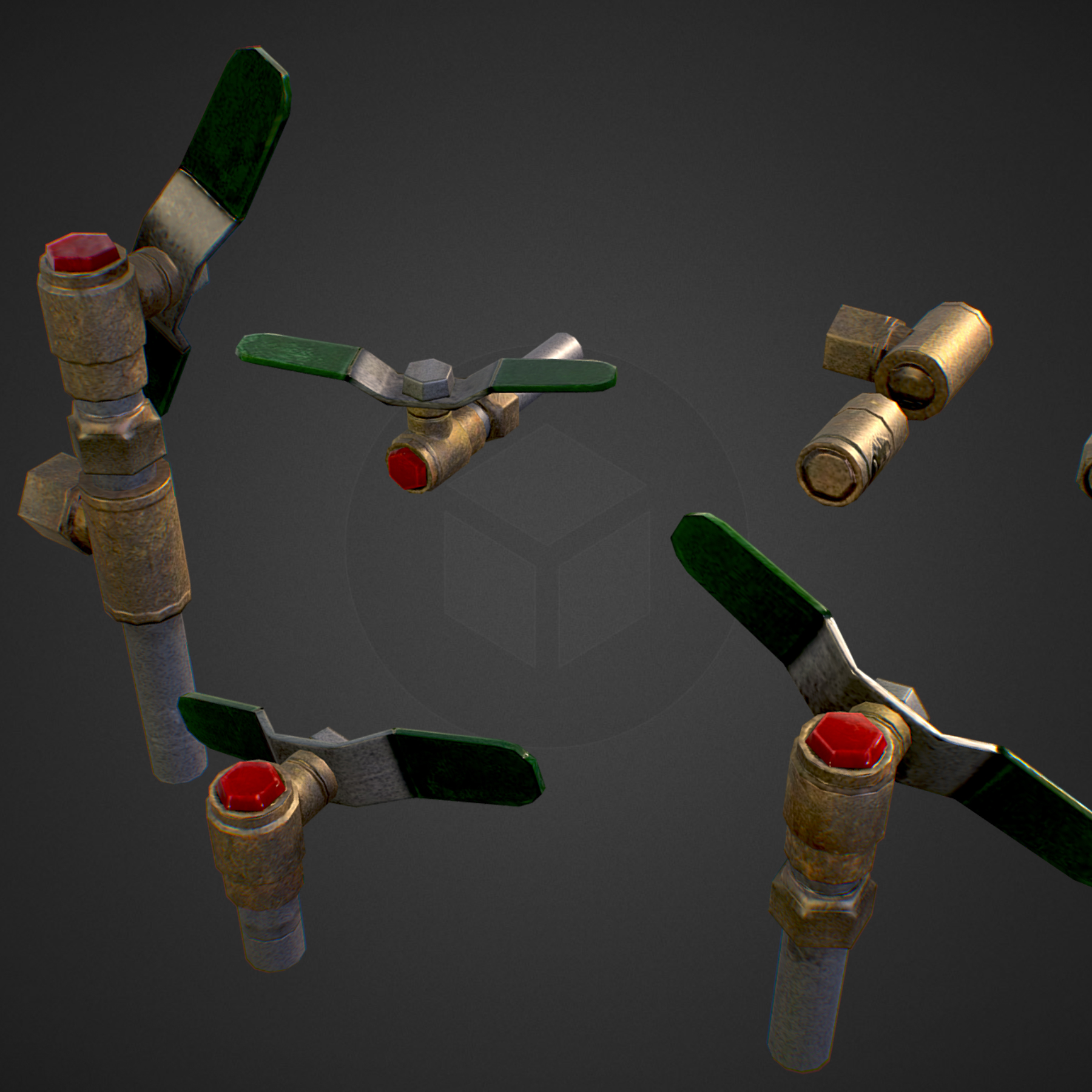 low poly game backflow water pipe constructor 3d model max  fbx ma mb tga targa icb vda vst pix obj 272479