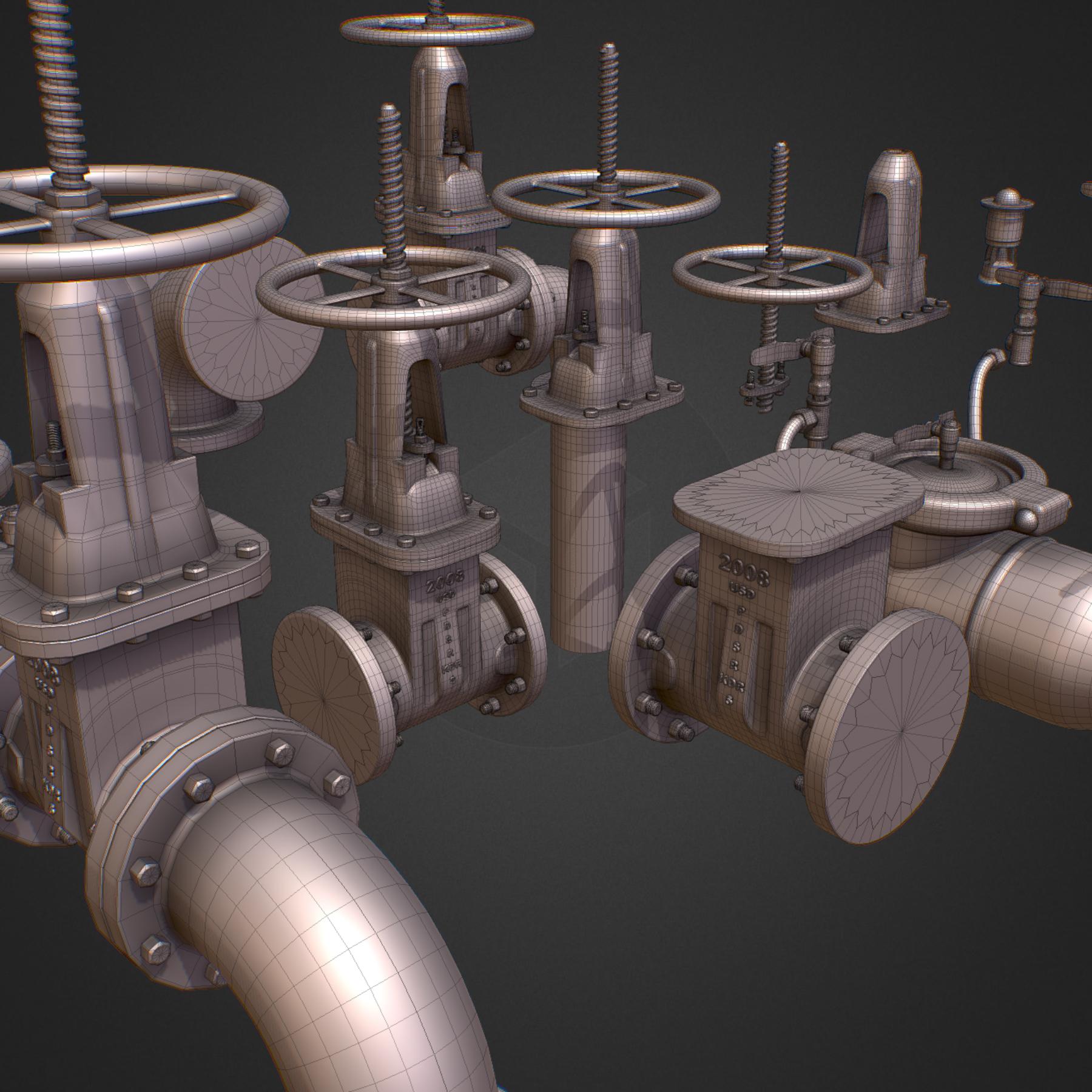 hi poly subdivision backflow pipe constructor 3d model max  fbx ma mb obj 272498