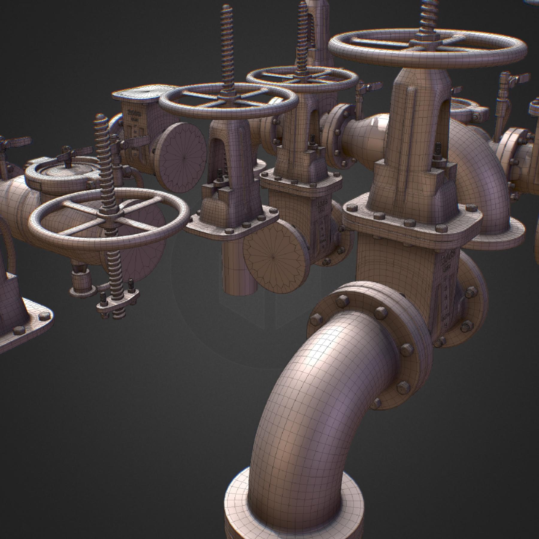hi poly subdivision backflow pipe constructor 3d model max  fbx ma mb obj 272502