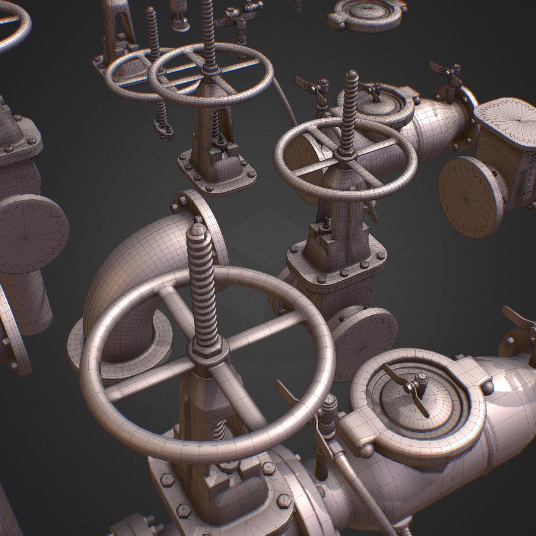 hi poly subdivision backflow pipe constructor 3d model max  fbx ma mb obj 272505